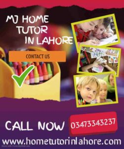 CONTACT US HOME TUTOR IN LAHORE HOME TUITION
