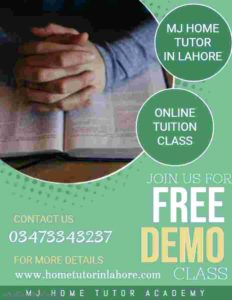 FAQs MJ Home Tutor Lahore MJ Home Tutor in Lahore provides female home tutor in Lahore