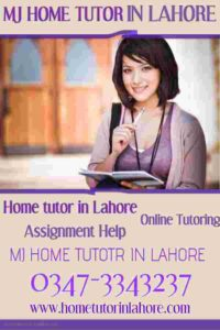 MJ Home Tutor in Lahore- Online Home Tutoring - Assignment Help