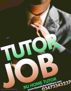 Lahore home tutor registration HOME TUTOR JOB FEMALE TUTOR JOB HOME TUITION JOB